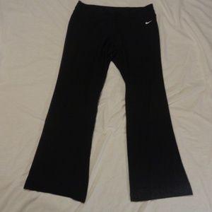 Nike Black W/ White Swoosh Dri-Fit XL Sweatpants